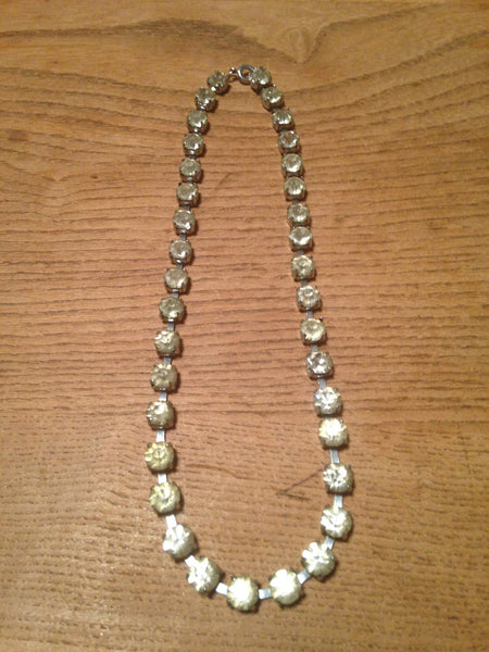 Super sparkling 1960s/70s diamante rhinestone single strand vintage necklace - Wowie Zowie  - 2
