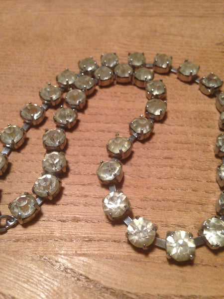 Super sparkling 1960s/70s diamante rhinestone single strand vintage necklace - Wowie Zowie  - 1