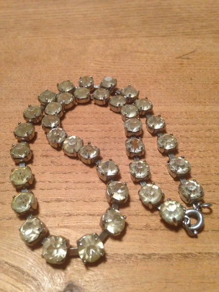 Super sparkling 1960s/70s diamante rhinestone single strand vintage necklace - Wowie Zowie  - 3