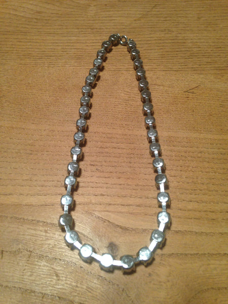 Super sparkling 1960s/70s diamante rhinestone single strand vintage necklace - Wowie Zowie  - 4