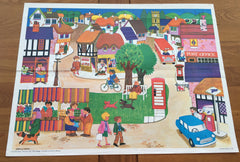 Fabulously colourful 'The Village' Child Educational Poster 1972 - Wowie Zowie  - 1