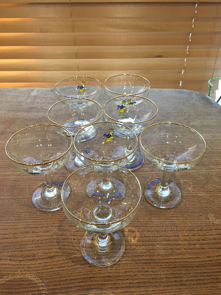 A pair of fabulous 1960s vintage original Babycham glasses - Wowie Zowie  - 2