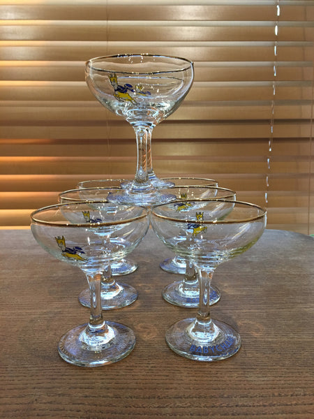 A pair of fabulous 1960s vintage original Babycham glasses - Wowie Zowie  - 3