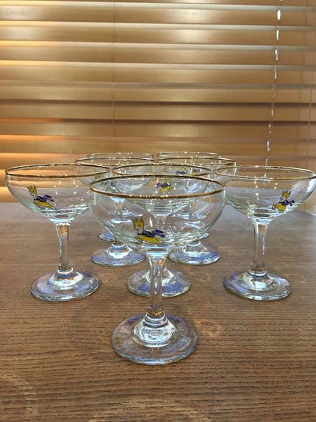 A pair of fabulous 1960s vintage original Babycham glasses - Wowie Zowie  - 4