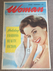 SALE - Was £60 Fabulous framed original Woman's weekly poster by Odhams Press 1950's