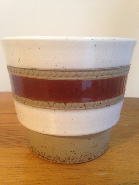 Darling Denby studio pottery 'Potters Wheel' 1970s mid century ceramic planter designed by David Yorath - Wowie Zowie  - 1
