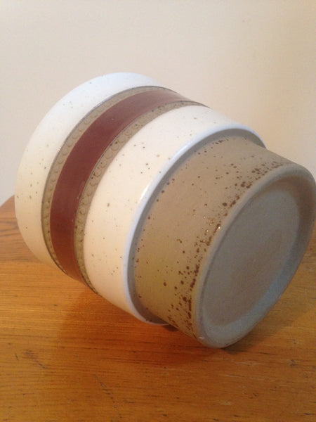 Darling Denby studio pottery 'Potters Wheel' 1970s mid century ceramic planter designed by David Yorath - Wowie Zowie  - 4