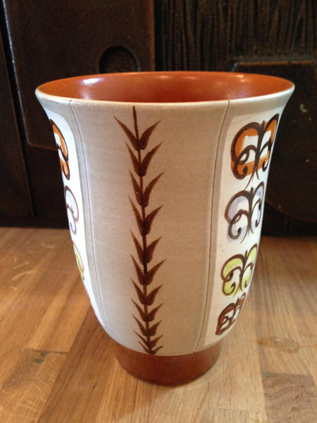 Strikingly beautiful Bourne Denby studio ceramic vase decorated and signed by Glyn Colledge - Wowie Zowie  - 1