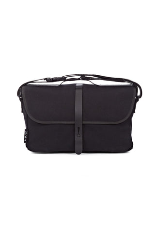 Brompton Shoulder Bag, Black w/ Cover & Frame