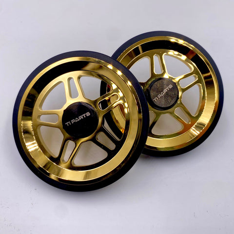 Ti Parts Gold Five Spoke Eazy Wheels for Brompton
