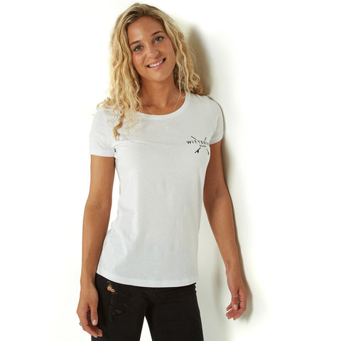 Ladies Everyday Wittering Surf Tee White