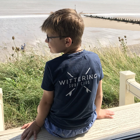 Kids Everyday Surf Club T-Shirt - Navy - Wittering Surf Shop