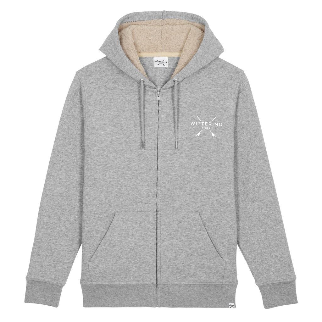 Drift Sherpa Hoodie - Heather Grey - Wittering Surf Shop
