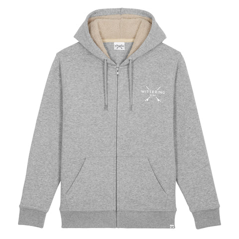 Ladies Drift Sherpa Hoodie - Heather Grey - Wittering Surf Shop