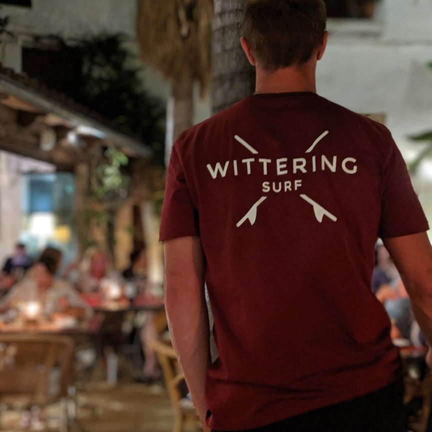 Everyday T-Shirt - Burgundy - Wittering Surf Shop