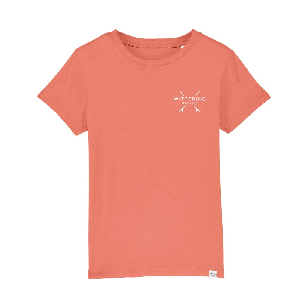 KIDS EVERYDAY SURF CLUB T-SHIRT - ROSE CLAY