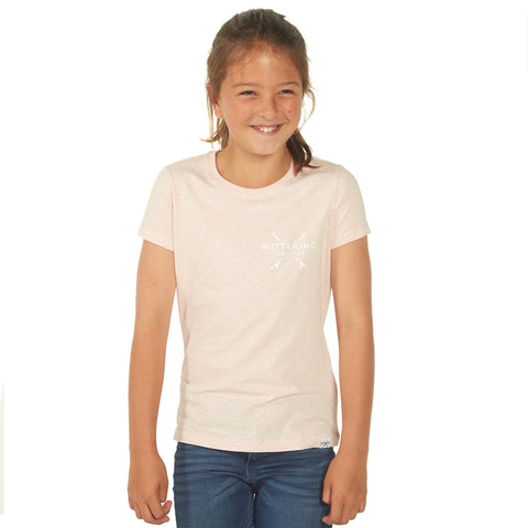 Kids Everyday Surf Club T-Shirt - Cream Heather Pink - Wittering Surf Shop