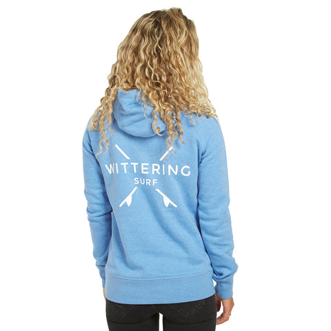 Low Tide Hoodie - Mid Heather Blue - Wittering Surf Shop