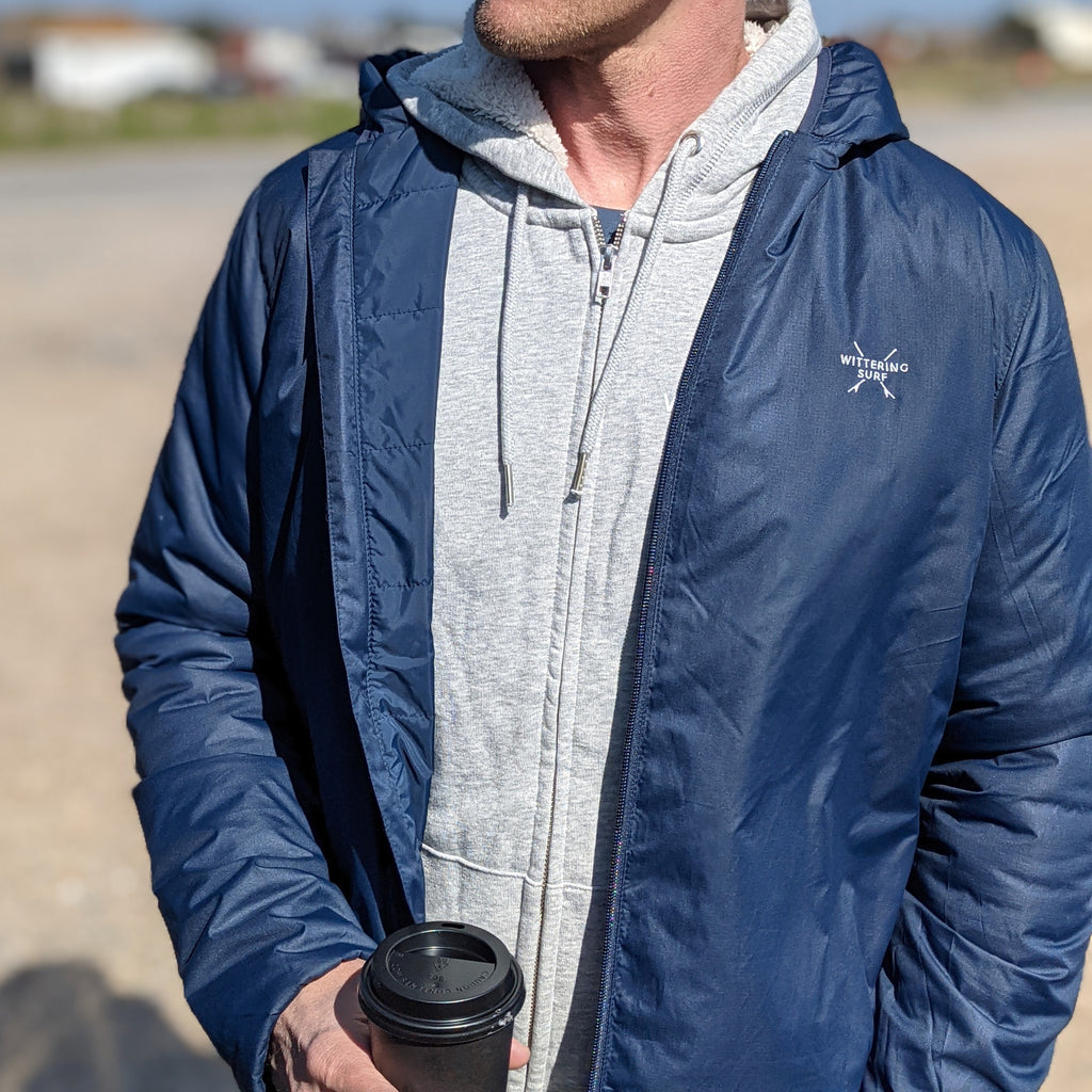NAZARE PADDED HOODIE JACKET - NAVY
