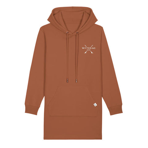 LADIES NOON TIDE HOODIE DRESS - CARAMEL