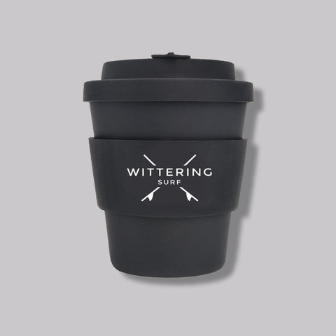 Wittering Surf Reusable Takeaway Cup - Black