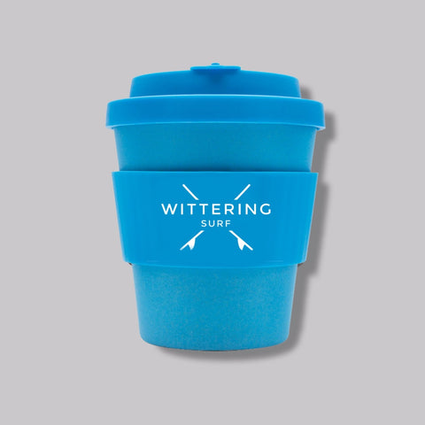 Wittering Surf Reusable Takeaway Cup - Blue