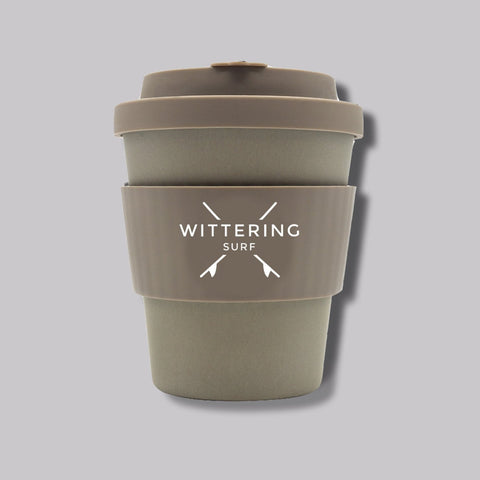 Wittering Surf Reusable Takeaway Cup - Grey