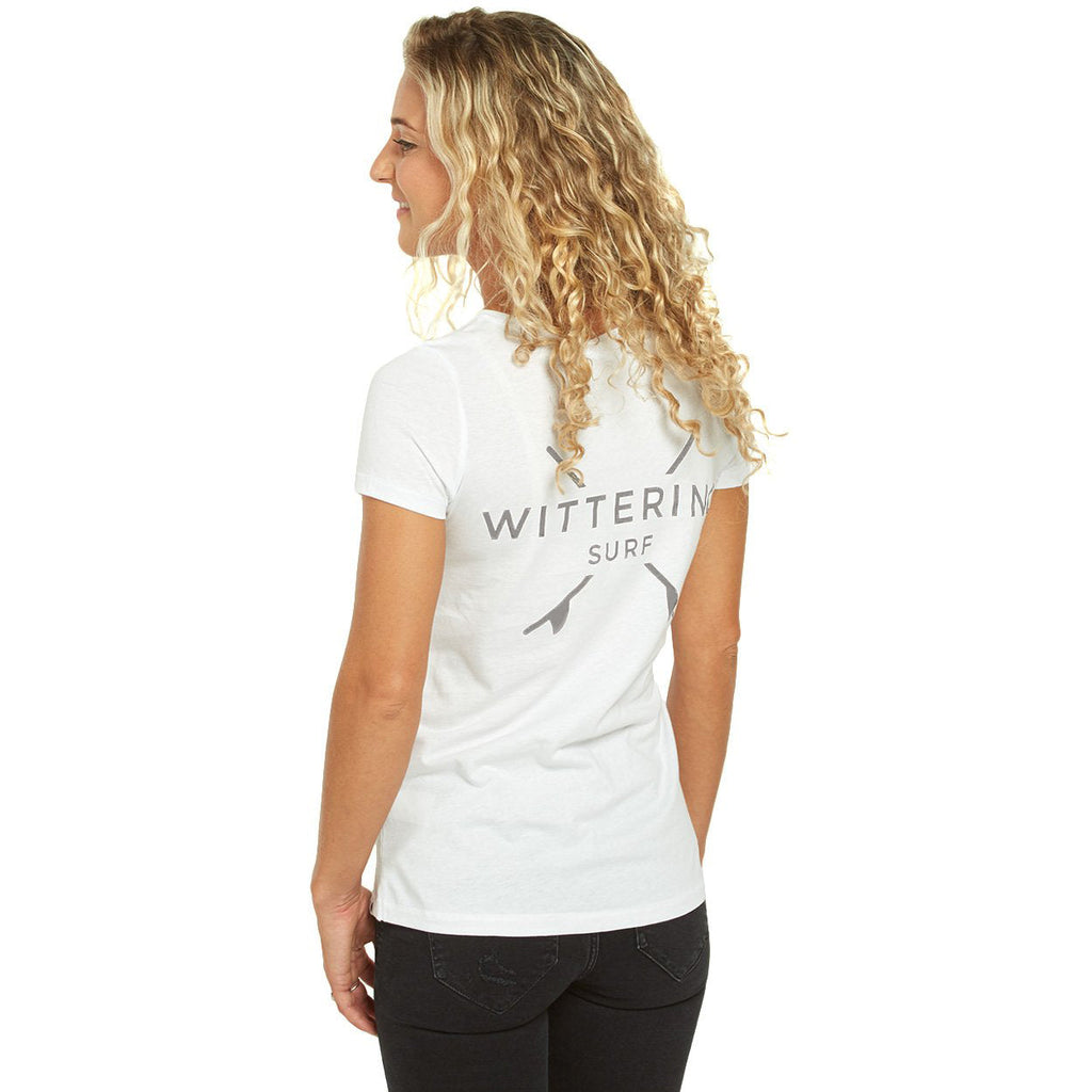 Ladies Everyday T-Shirt - White - Wittering Surf Shop