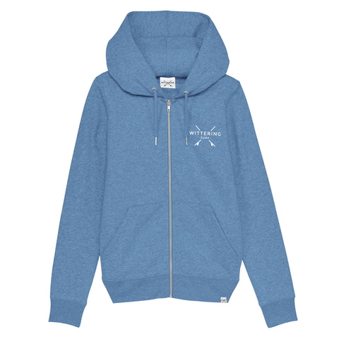 Dory Zip Hoodie – Mid Heather Blue - Wittering Surf Shop