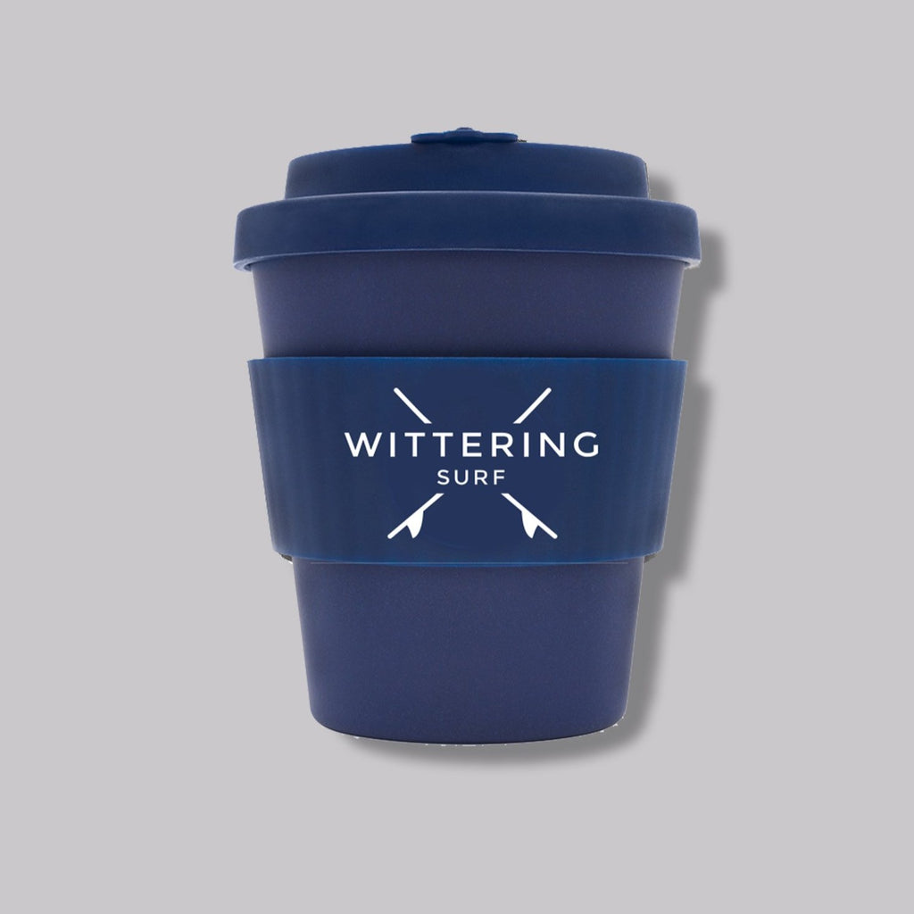 Wittering Surf Reusable Takeaway Cup - Navy - Wittering Surf Shop