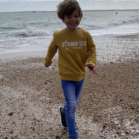 Kid's Vitamin Sea Jumper - Ochre