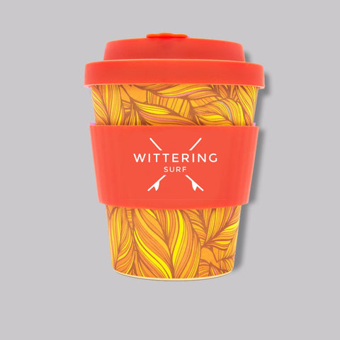 Wittering Surf Reusable Takeaway Cup 8 oz/240 ml - Orange