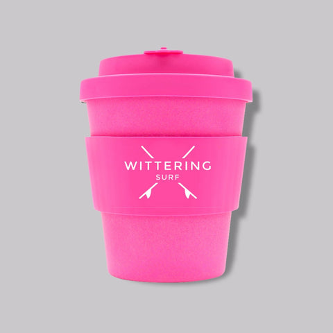 Wittering Surf Reusable Takeaway Cup - Pink - Wittering Surf Shop