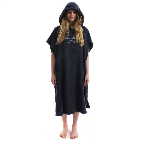 Wittering Surf Hooded Change Robe - Navy - Wittering Surf Shop