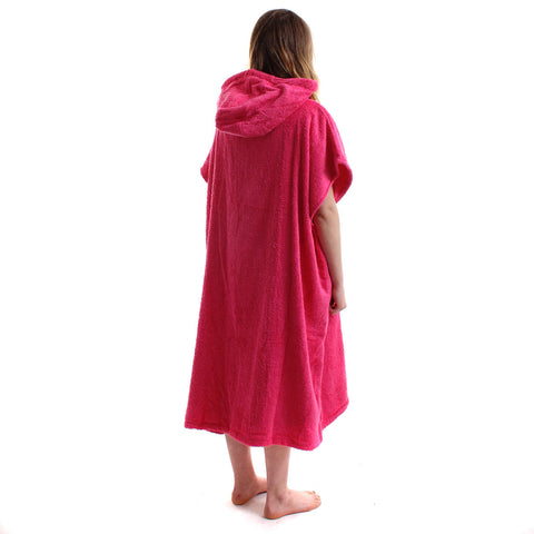 Wittering Surf Hooded Change Robe - Hot Pink