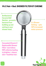 Load image into Gallery viewer, SINGLE SHOT CHROME Vit.C SHOWER FILTER KIT