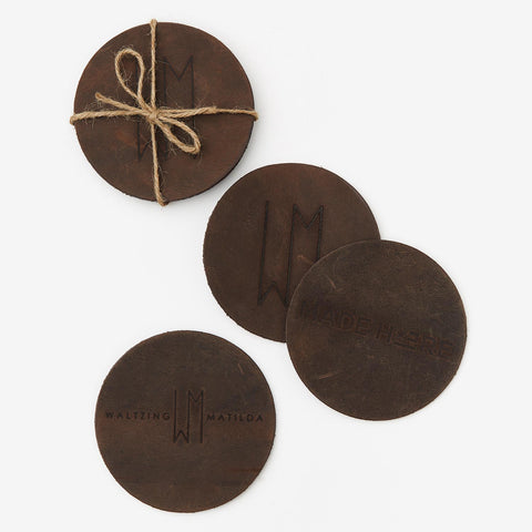 Leather Coasters (Set of 4)