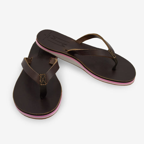 Jordann - Pink and Brown - Women's Sandal