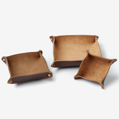 Leather Trays - Dark Brown