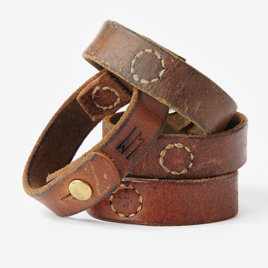 Vintage Leather Cuff - Waltzing Matilda USA