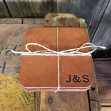 Leather Coasters - Square (Set of 4)