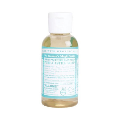 Dr. Bronner's Magic Soaps - Unscented Baby-Mild Castile Liquid Soap (2oz)| Dr. Bronner's Magic Soaps 無香寶寶溫和梘液 (2oz)