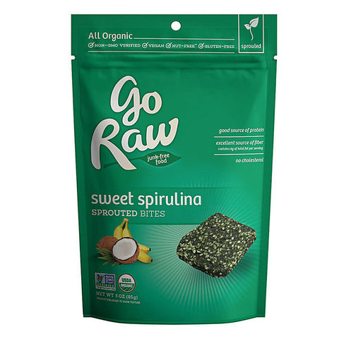 Go Raw Sprouted Bite - Sweet Spirulina (85g) | Go Raw 螺旋藻超級曲奇 (85克)