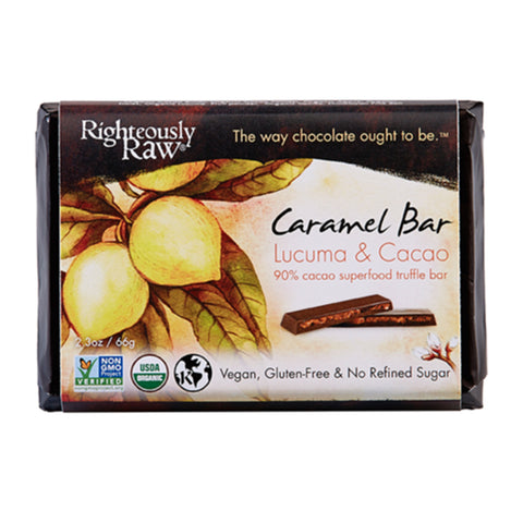 Righteously Raw Organic Caramel Chocolate Truffle Bar (66g)|  Righteously Raw 有機生機焦糖朱古力 (66克)