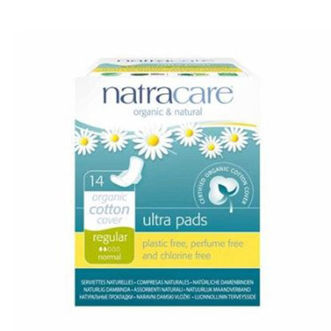 Natracare Ultra Pads with Wings (23cm Regular, 14 pads)|Natracare 有機棉超薄護翼衛生巾 (23cm標準型, 14片獨立包裝)