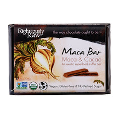 Righteously Raw Organic Maca Chocolate Truffle Bar (66g)| Righteously Raw 有機生機瑪卡朱古力 (66克)