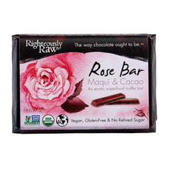 Righteously Raw Organic Rose Chocolate Truffle Bar (66g) | Righteously Raw 有機生機瑪奇玫瑰朱古力 (66克)