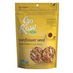 Go Raw Sprouted Flax Snax - Sunflower Seed (85g)| Go Raw 葵花籽超級曲奇 (85克)