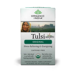 Organic India Tulsi Original (Holy Basil) 18 Tea Bags| Organic India 有機圖爾西聖羅勒茶包 (18包)