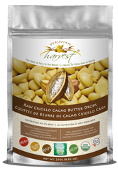 [PROMOTION] Peruvian Harvest Raw Criollo Cacao Butter Drops (250g) | [特價] Peruvian Harvest 生機克里奧羅可可油豆粒 (250克)